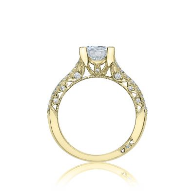 Tacori HT2513RD7512X-Y Classic Crescent Yellow Gold Round Engagement Ring