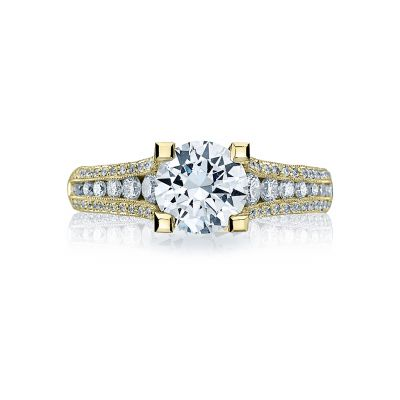 Tacori HT2513RD7512X-Y Yellow Gold Round Engagement Ring side