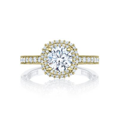 Tacori HT2522CU-5Y Blooming Beauties Yellow Gold Round Engagement Ring