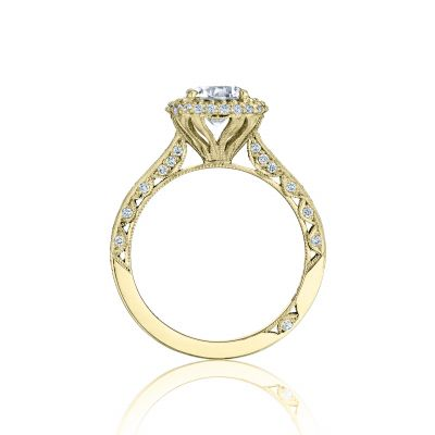 Tacori HT2522CU-5Y Yellow Gold Round Engagement Ring side