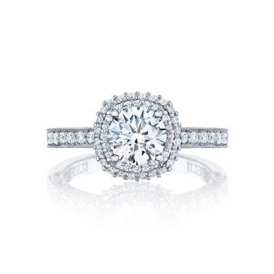 Tacori HT2522CU65 Blooming Beauties Platinum Round Engagement Ring