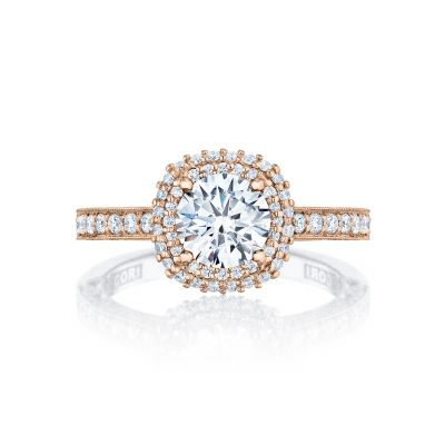 Tacori HT2522CU65-PK Blooming Beauties Rose Gold Round Engagement Ring
