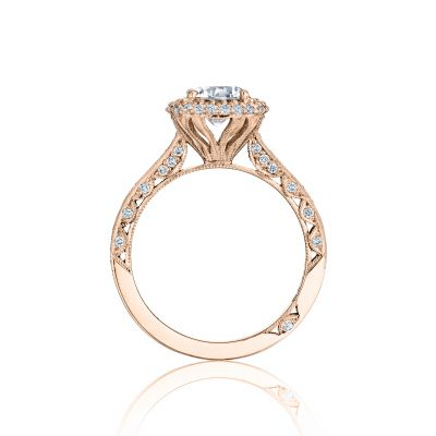 Tacori HT2522CU65-PK Rose Gold Round Engagement Ring side