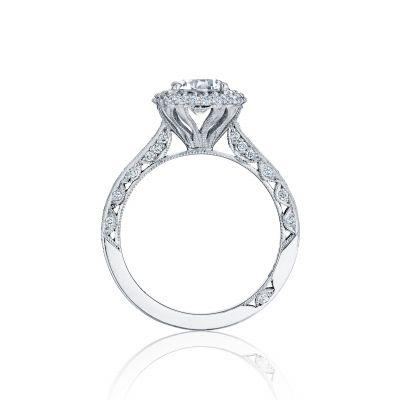 Tacori HT2522CU65 Platinum Round Engagement Ring side