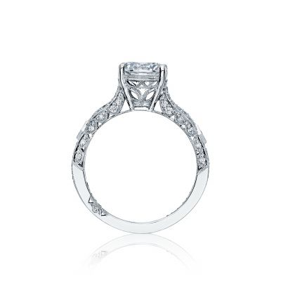 Tacori HT2528RD White Gold Round Engagement Ring side