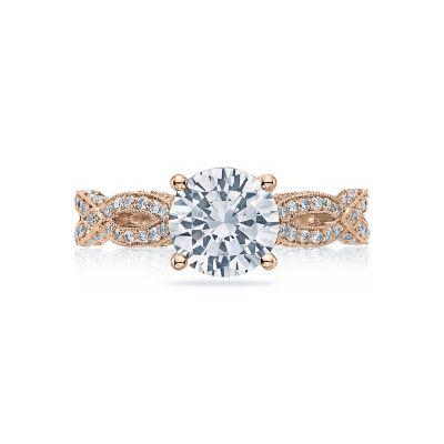 Tacori HT2528RD75-PK Ribbon Rose Gold Round Engagement Ring
