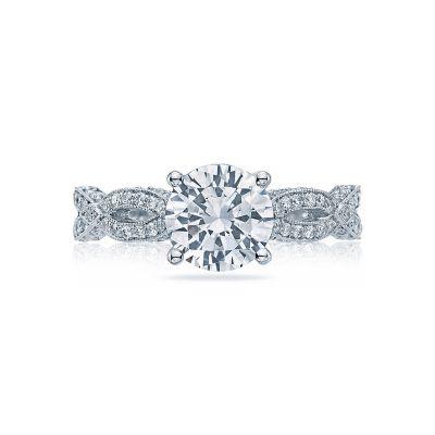 Tacori HT2528RD75 Ribbon Platinum Round Engagement Ring
