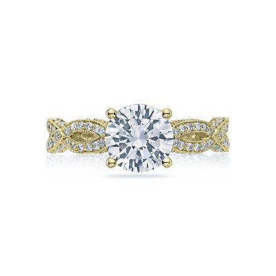 Tacori HT2528RD75-Y Ribbon Yellow Gold Round Engagement Ring