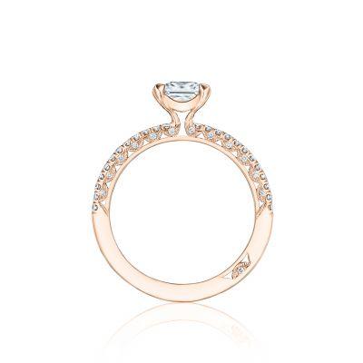 Tacori HT254515PR55-PK Rose Gold Princess Cut Engagement Ring side