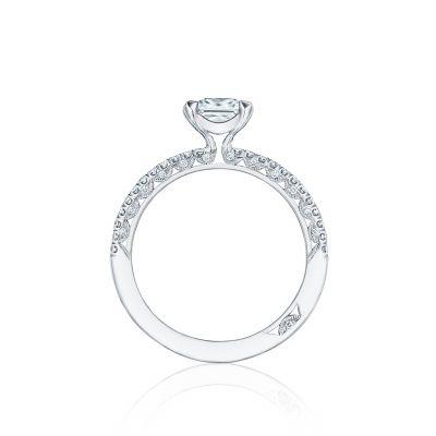 Tacori HT254515PR55 Platinum Princess Cut Engagement Ring side