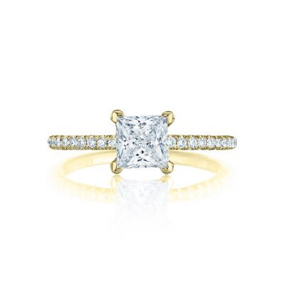 Tacori HT254515PR55-Y Petite Crescent Yellow Gold Princess Cut Engagement Ring