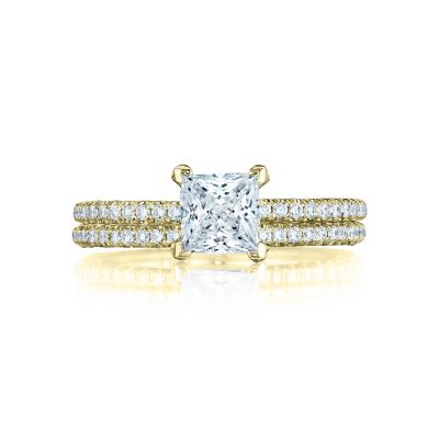 Tacori HT254515PR55-Y Yellow Gold Princess Cut Classic Engagement Ring set