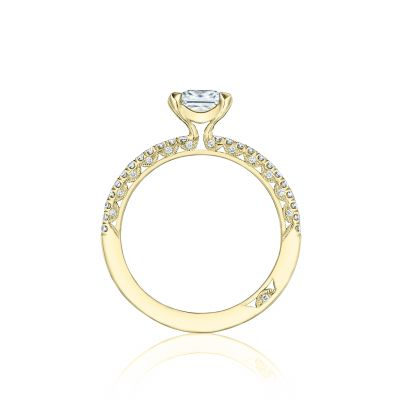 Tacori HT254515PR55-Y Yellow Gold Princess Cut Engagement Ring side