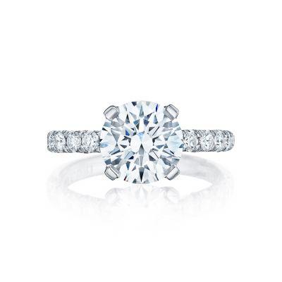 Tacori HT254525RD Petite Crescent White Gold Round Engagement Ring