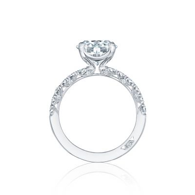 Tacori HT254525RD White Gold Round Engagement Ring side