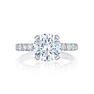 Tacori HT254525RD9 Petite Crescent Platinum Round Engagement Ring