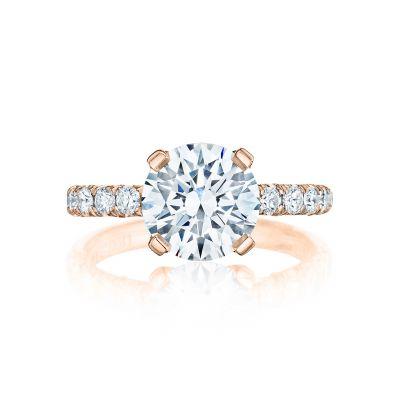 Tacori HT254525RD9-PK Petite Crescent Rose Gold Round Engagement Ring
