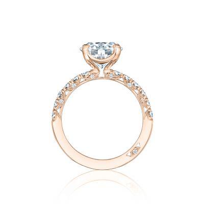 Tacori HT254525RD9-PK Rose Gold Round Engagement Ring side