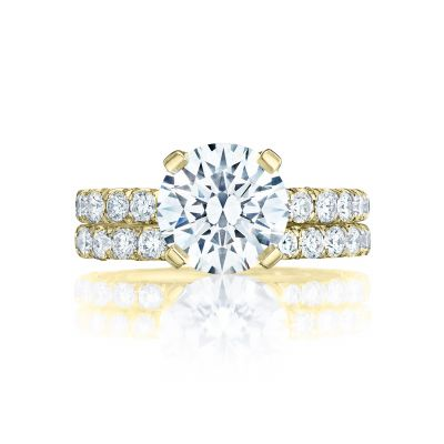 Tacori HT254525RD9-Y Yellow Gold Round Classic Style Engagement Ring set