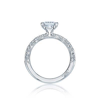 Tacori HT2545PR White Gold Princess Cut Engagement Ring side