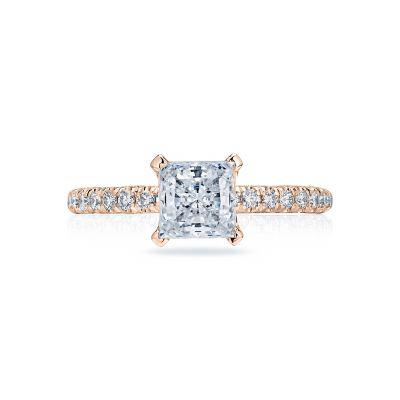 Tacori HT2545PR6-PK Petite Crescent Rose Gold Princess Cut Engagement Ring