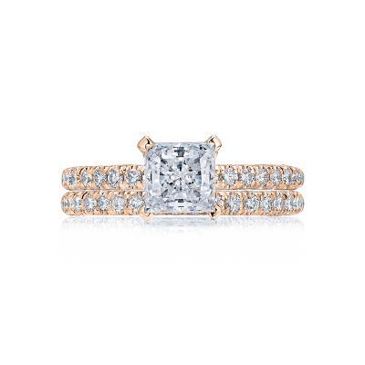 Tacori HT2545PR6-PK Rose Gold Princess Cut Beautiful Engagement Ring set