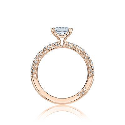 Tacori HT2545PR6-PK Rose Gold Princess Cut Engagement Ring side
