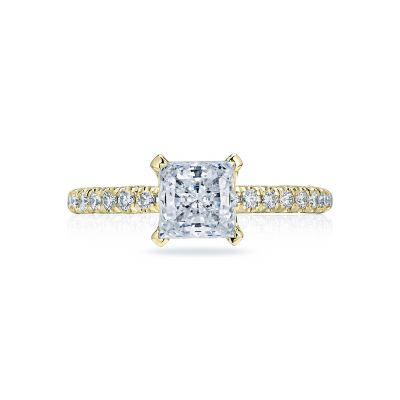 Tacori HT2545PR6-Y Petite Crescent Yellow Gold Princess Cut Engagement Ring