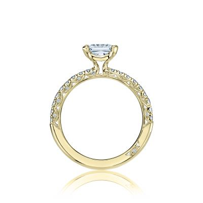 Tacori HT2545PR6-Y Yellow Gold Princess Cut Engagement Ring side