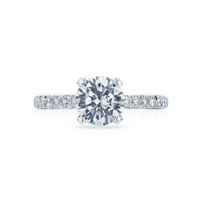 Tacori HT2545RD Petite Crescent White Gold Round Engagement Ring