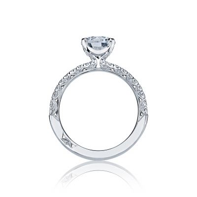 Tacori HT2545RD White Gold Round Engagement Ring side
