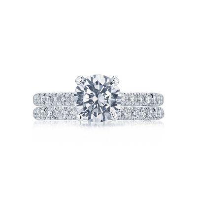 Tacori HT2545RD White Gold Round Stunning Pave Engagement Ring set