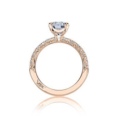Tacori HT2545RD65-PK Rose Gold Round Engagement Ring side
