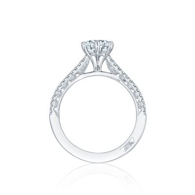 Tacori HT254615RD White Gold Round Engagement Ring side