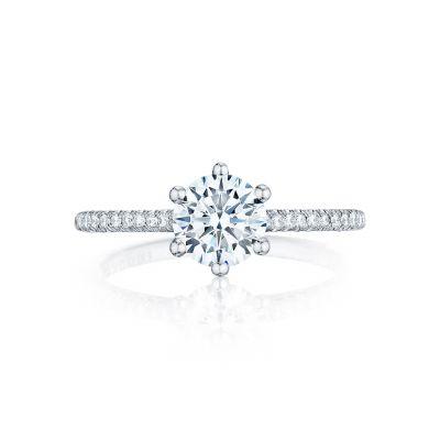 Tacori HT254615RD65 Petite Crescent Platinum Round Engagement Ring