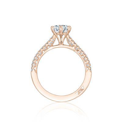 Tacori HT254615RD65-PK Rose Gold Round Engagement Ring side