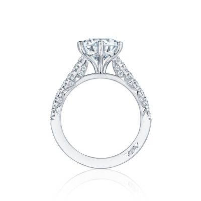 Tacori HT254625RD White Gold Round Engagement Ring side