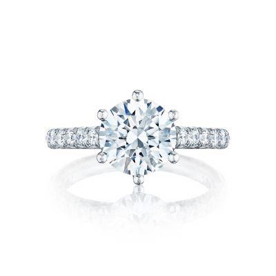 Tacori HT254625RD9 Petite Crescent Platinum Round Engagement Ring