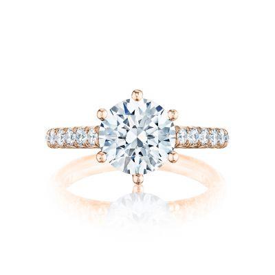 Tacori HT254625RD9-PK Petite Crescent Rose Gold Round Engagement Ring