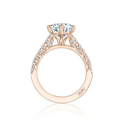 Tacori HT254625RD9-PK Rose Gold Round Engagement Ring side