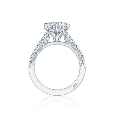 Tacori HT254625RD9 Platinum Round Engagement Ring side