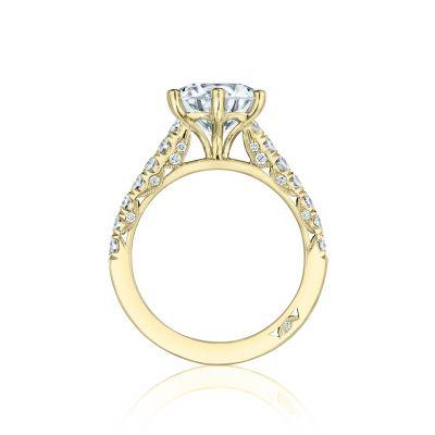 Tacori HT254625RD9-Y Yellow Gold Round Engagement Ring side