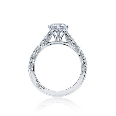 Tacori HT2546RD White Gold Round Engagement Ring side