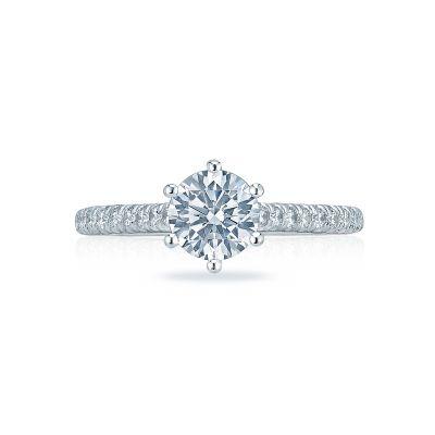 Tacori HT2546RD65 Petite Crescent Platinum Round Engagement Ring