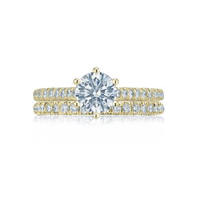 Tacori HT2546RD65-Y Yellow Gold Round Classic Engagement Ring set