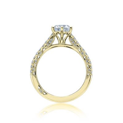 Tacori HT2546RD65-Y Yellow Gold Round Engagement Ring side