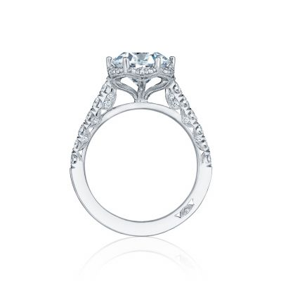 Tacori HT254725RD White Gold Round Engagement Ring side