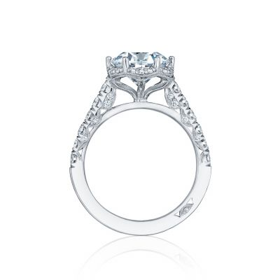 Tacori HT254725RD9 Platinum Round Engagement Ring side