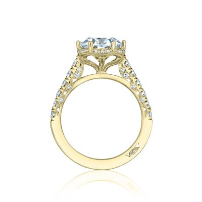 Tacori HT254725RD9-Y Yellow Gold Round Engagement Ring side