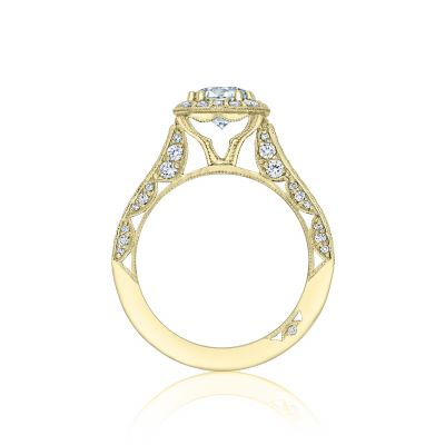Tacori HT2550CU65-Y Yellow Gold Round Engagement Ring side